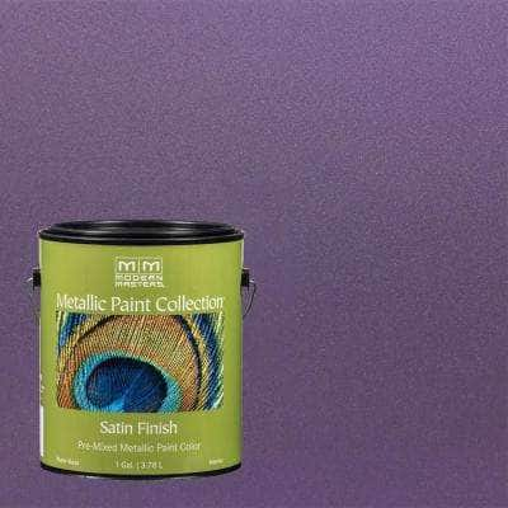 1 gal. Lilac Water-Based Satin Metallic Interior Paint