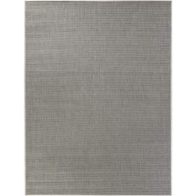 Solid Grey 8 ft. x 10 ft. Indoor/Outdoor Area Rug