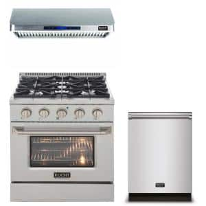 Pro-Style 30 in. 4.2 cu. ft. Natural Gas Range with Convection Oven in Stainless Steel and Silver Oven Door