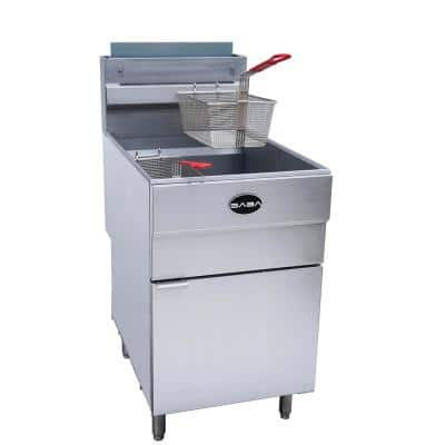 21 in. 85 lb. Capacity Natural Gas Commercial Fryer