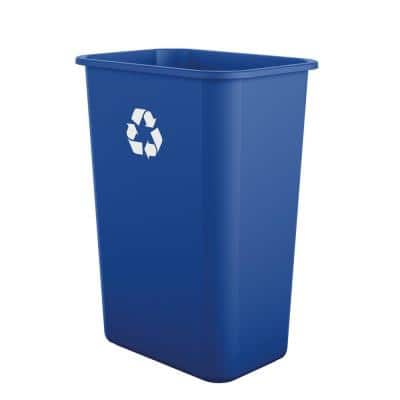 10 Gal. Blue Touchless Desk Side Trash Can (12-Pack)