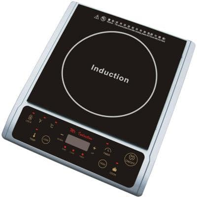 Single Burner 7.25 in. Black and Silver Induction Hot Plate