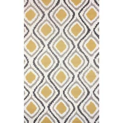 Matthieu Tribal Sunflower 9 ft. x 12 ft. Area Rug