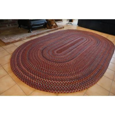 Annie Walnut 7 ft. x 9 ft. Oval Indoor Braided Area Rug