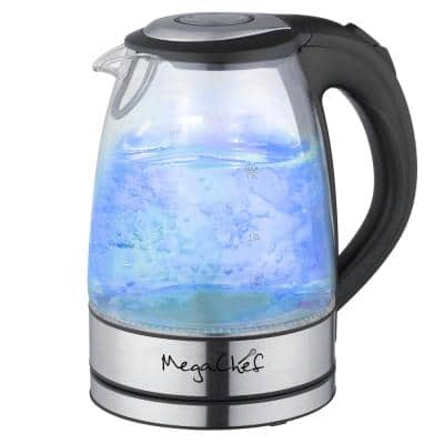 7 Cups 1.7 l Glass and Stainless Steel Electric Tea Kettle