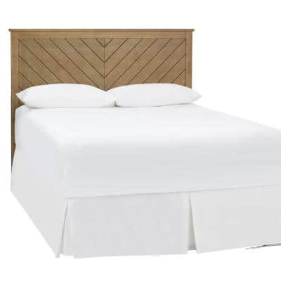 Fergus Patina Finish Queen Bed with Chevron Slats (61.18 in. W x 48 in. H)