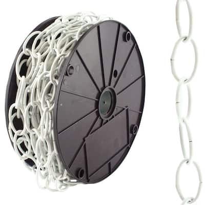 #2/0 x 50 ft. Decorator Steel Chain, White