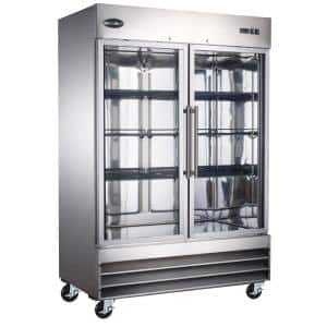 47 cu. ft. Two Glass Door Commercial Reach In Upright Freezer in Stainless Steel