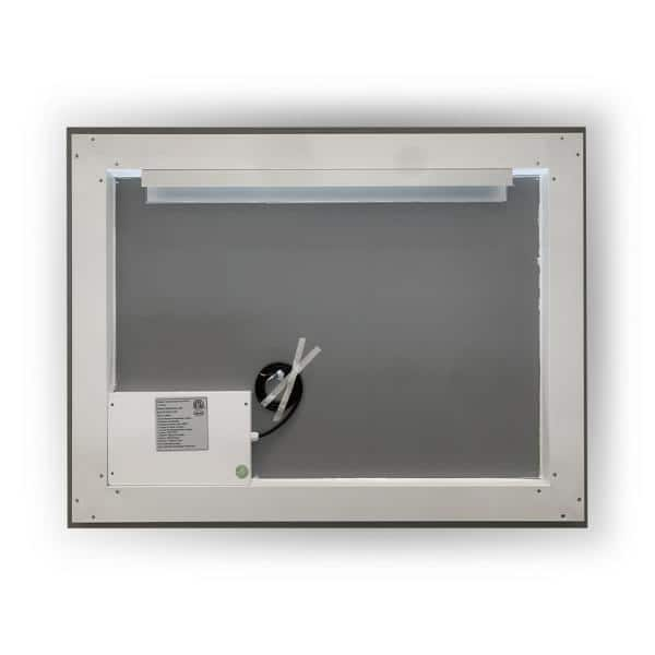 Altair Genova 40 In W X 30 In H Frameless Rectangular Led Bathroom Vanity Mirror In Clear 744040 Led Nf The Home Depot