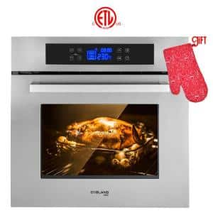 24 in. Built-In Single Electric Wall Oven in Stainless Steel with Full Touch Control, ETL