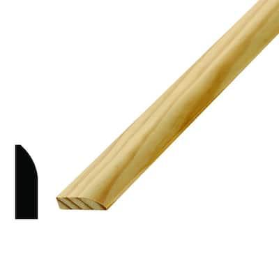 WM 857 3/8 in. x 1-1/4 in. 96 in. Wood Pine Stop Moulding