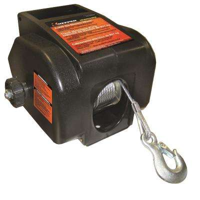 2,000 lbs. Portable 12-Volt DC Winch with Rapid Mount