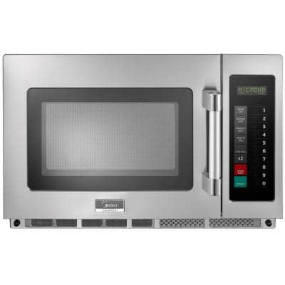 1.2 cu. ft. 1800-Watt Commercial Counter Top Microwave Oven in Stainless Steel Interior and Exterior, Programmable