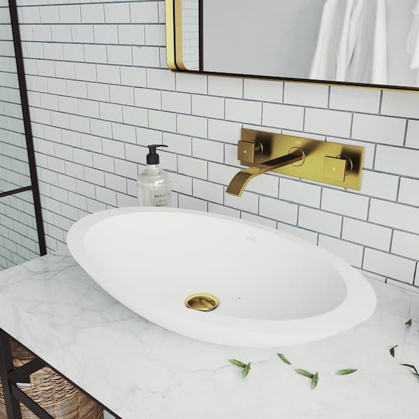 Vigo Titus 2 Handle Wall Mount Bathroom, Wall Mounted Faucet Bathroom