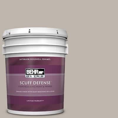 5 gal. #PPU18-12 Graceful Gray Extra Durable Eggshell Enamel Interior Paint & Primer