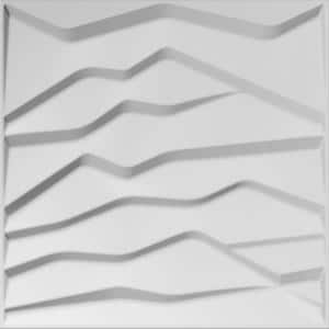 Falkirk Fifer 20 in. x 20 in. Paintable Off White Abstract Hills Fiber Decorative Wall Paneling (5-Pack)