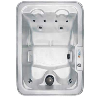 Malta 4-Person Plug and Play 10-Jet Spa with Ozonator LED Light Polar Insulation and Hard Cover