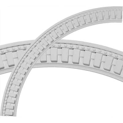 47 in. Dentil and Bead Ceiling Ring (1/4 of Complete Circle)