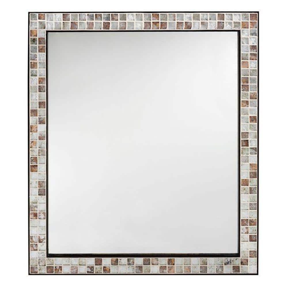 Briscoe 23 In W X 28 In H Framed Rectangular Bathroom Vanity Mirror In Espresso 0416810820 The Home Depot