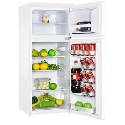 4.5 cu. ft. 2 Door Mini Fridge in White with Freezer