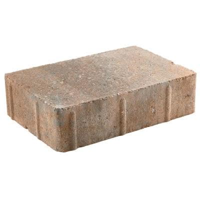 Vintage 8.86 in. L. x 5.91 in. W x 2.36 in. H Three Tone Brown Concrete Paver (250 pcs/90.75 sq ft/Pallet)