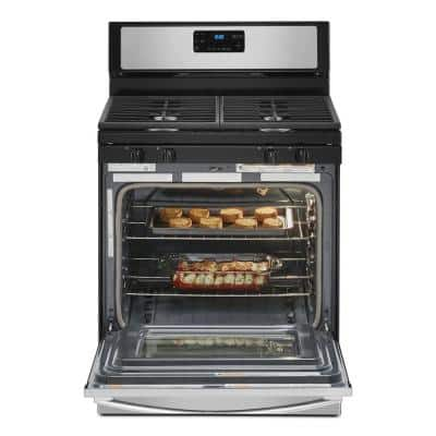5.0 cu. ft. Gas Range with Self-Cleaning and Speed Heat Burner in Stainless Steel