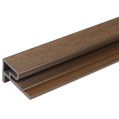 2.1 in. x 3.0 in. x 8 ft. European Siding System Composite Siding End Trim Board in Brazilian Ipe for Belgian Board
