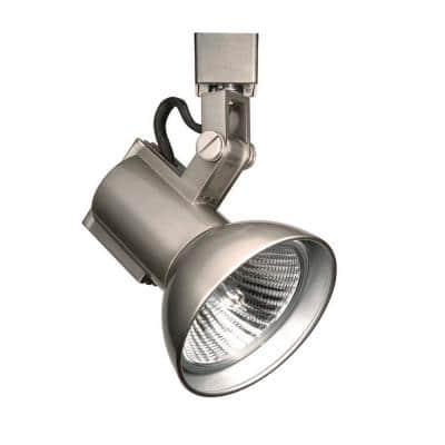 1-Light 75-Watt Brushed Nickel Line Voltage Track Head for H Track