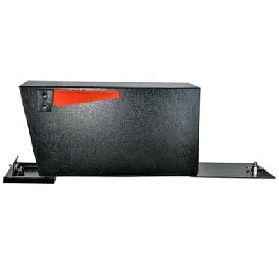 Street Safe Latitude Front/Rear Locking Black Post Mount Mailbox with High Security Reinforced Patented Locking System