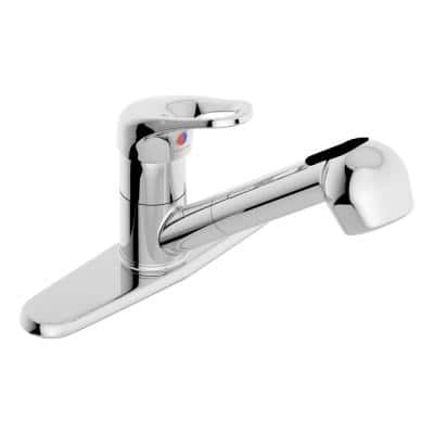 Unity Single-Handle Pull-Out Sprayer Kitchen Faucet in Chrome
