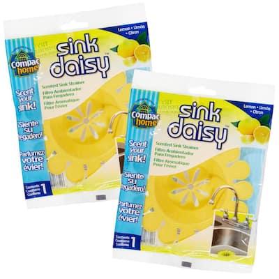 2 Count Sink Daisy Lemon Scented Kitchen Sink Strainer