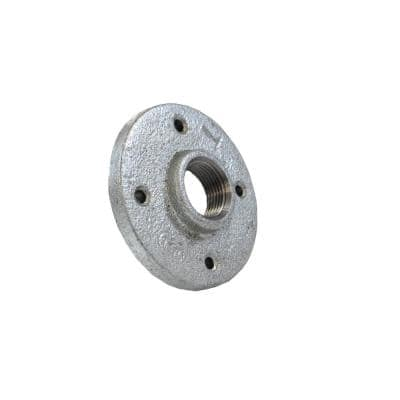 1-1/2 in. Galvanized Malleable Iron FPT Floor Flange (10-Pack)