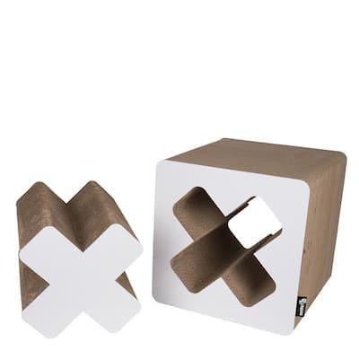 White Small Treasure Cardboard Cat Scratcher