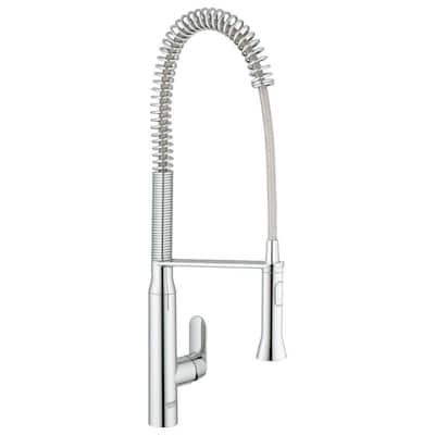 K7 Semi-Pro Single-Handle Pull-Down Dual Sprayer Kitchen Faucet in StarLight Chrome
