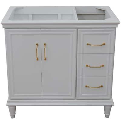 36 in. W x 21.5 in. D Single Bath Vanity Cabinet Only in White (Cabinet Doors on Left Side)