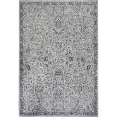 Bernadette Gray 3 ft. x 4 ft. Rectangle Silk Blend Area Rug