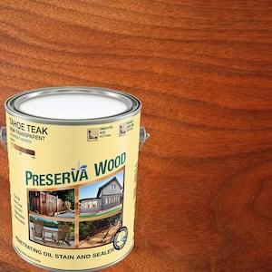 1 gal. Semi-Transparent Oil-Based Tahoe Teak Exterior Wood Stain