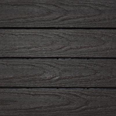UltraShield Naturale 1 ft. x 1 ft. Quick Deck Outdoor Composite Deck Tile Sample in Indonesian Merbau
