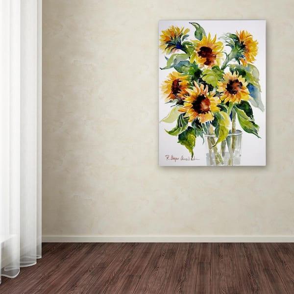 Bright Yellow Sunflowers 3 pcs HD Art Photo Poster Wall Home Decor Canvas Print