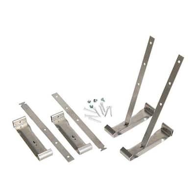 4 in. Steel K-Style Gutter Strap Hanger (4-Pack)
