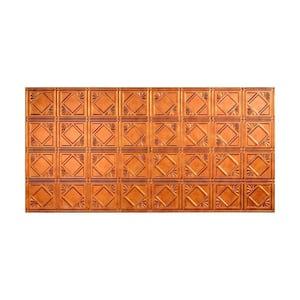 Traditional #4 2 ft. x 4 ft. Glue Up Vinyl Ceiling Tile in Antique Bronze (40 sq. ft.)