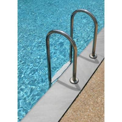 13 in. x 24 in. Fossil Snow Matte Porcelain Pool Coping (26 Pieces/56.33 sq. ft./Pallet)