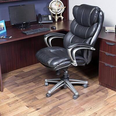 60 x 45 Inch Modern Rectangular Office Chair Mat for Hard Floors, Clear