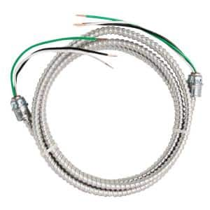 12/2 x 8 ft. Stranded CU MC (Metal Clad) Armorlite Modular Assembly Quick Cable Whip