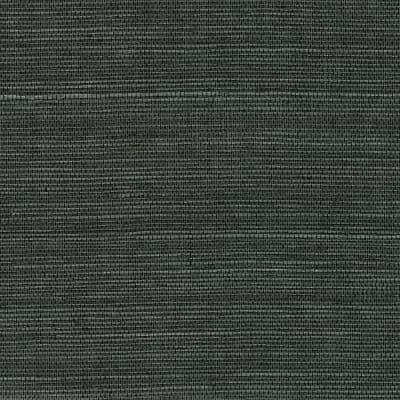 Kowloon Charcoal Sisal Grasscloth Non-Pasted Wallpaper Roll (Covers 72 Sq. Ft.)
